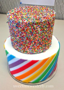 https://sweetnorwesterly.com/2016/03/03/rainbow-sprinkles-stripes-baby-shower-cake/
