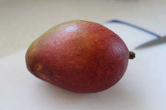 Start with one mango (I think this is Tommy Atkins variety)